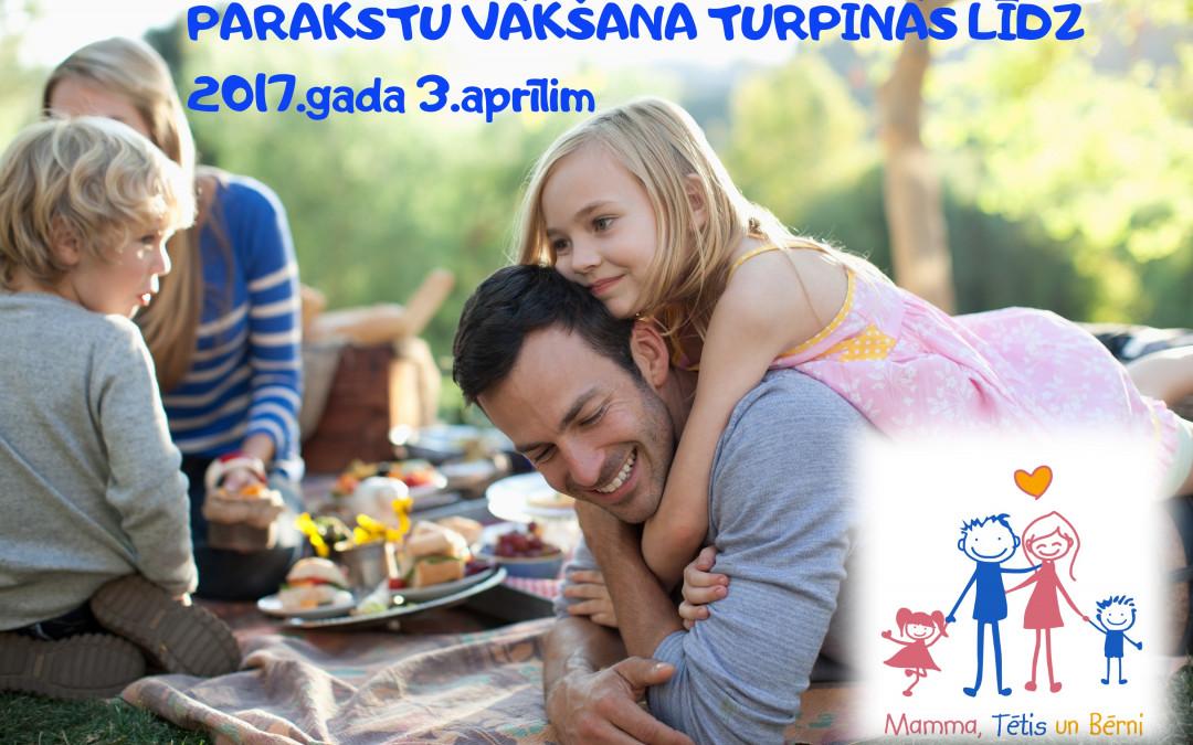 """Eiropas pilsoņu iniciatīva """"Mamma, Tētis un Bērni"""":  parakstu vākšana turpinās līdz 2017.gada 3.aprīlim"""